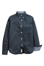 Cotton shirt - Dark blue/Spotted -  | H&M CN 3