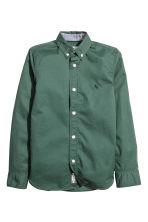 Cotton shirt - Dark green - Kids | H&M CA 2