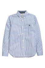 Cotton shirt - Blue/White striped - Kids | H&M 2