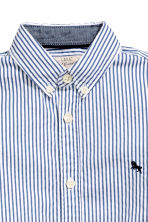 Cotton shirt - Blue/White striped - Kids | H&M 4