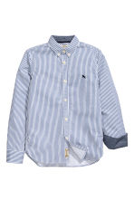 Cotton shirt - Blue/White striped - Kids | H&M 3