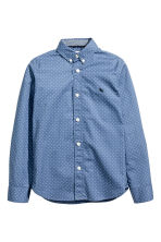 Cotton shirt - Blue/Spotted -  | H&M 2