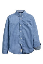 Cotton shirt - Blue/Spotted -  | H&M 3