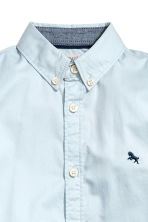 Cotton shirt - Light blue - Kids | H&M 4