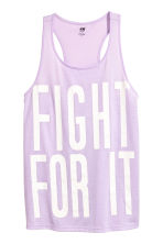 Sports top - Lilac - Ladies | H&M 2