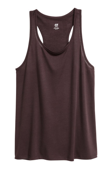 Sports top - Plum - Ladies | H&M