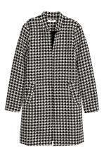 Short Coat - Houndstooth-patterned -  | H&M CA 2
