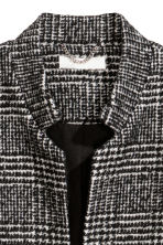 Short coat - Black/Checked - Ladies | H&M IE 2