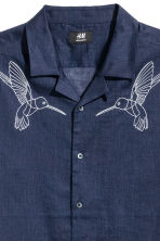 Denim shirt Regular fit - Dark blue/Birds - Men | H&M CA 3