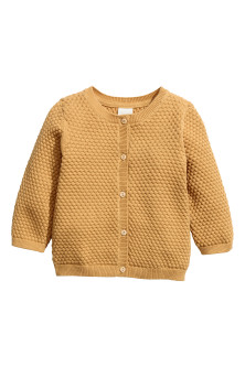 Textured-knit cotton cardigan