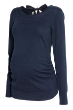 MAMA Knitted jumper - Dark blue - Ladies | H&M CN 1
