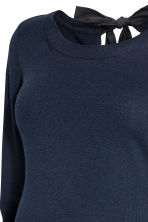 MAMA Knitted jumper - Dark blue - Ladies | H&M CN 2