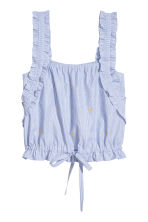 Drawstring top - Blue/White/Striped - Ladies | H&M CA 2
