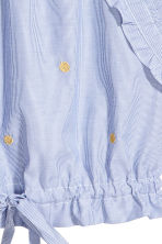 Drawstring top - Blue/White/Striped - Ladies | H&M 3