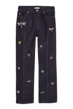 Jeans with beaded appliqués - Dark blue - Ladies | H&M 2