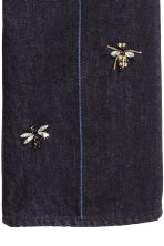 Jeans with beaded appliqués - Dark blue - Ladies | H&M 4