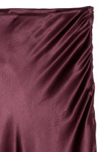 Calf-length satin skirt - Burgundy - Ladies | H&M GB 3