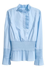 Smocked Blouse - Light blue - Ladies | H&M CA 2