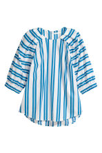 Cotton blouse - White/Blue striped - Ladies | H&M 2