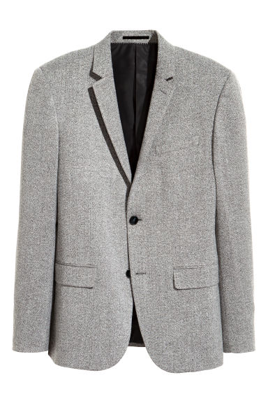 Marled jacket Slim fit - Grey marl - Men | H&M GB