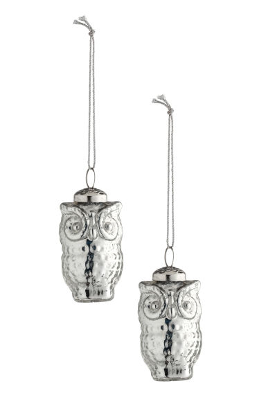 2-pack Christmas decorations - Silver-coloured - Home All | H&M GB
