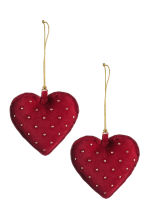 2-pack Christmas decorations - Dark red - Home All | H&M GB 1