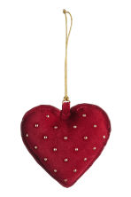 2-pack Christmas decorations - Dark red - Home All | H&M CN 2