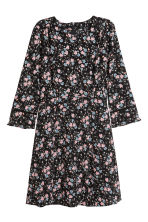 Crêpe dress - Black/Floral - Ladies | H&M CN 2