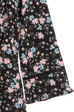 Crêpe dress - Black/Floral - Ladies | H&M CN 3
