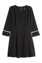 Crêpe dress - Black - Ladies | H&M 2