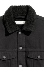 Pile-lined denim jacket - Black - Men | H&M 3