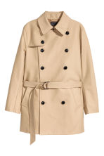 Short trenchcoat - Beige - Men | H&M CN 2