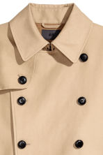 Short trenchcoat - Beige - Men | H&M CN 3
