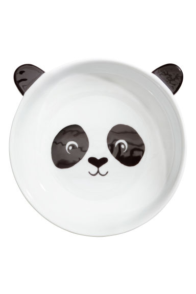 Deep Animal-motif Plate - White/Black - Home All | H&M CA 1