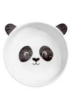 Animal-motif deep plate - White/Black - Home All | H&M CN 1