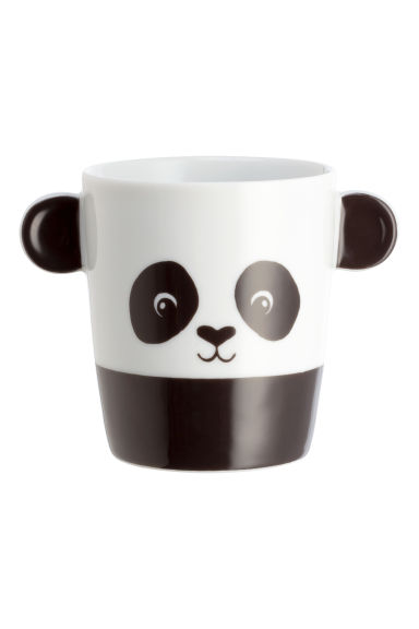 Animal-motif mug - White/Panda - Home All | H&M GB 1