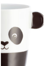 Animal-motif mug - White/Panda - Home All | H&M GB 2