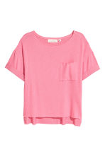 Fine-knit top - Pink - Ladies | H&M CN 2
