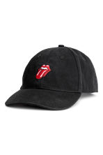 Cotton cap - Black/Rolling Stones - Men | H&M 1