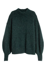 Pullover in misto mohair - Verde scuro mélange - DONNA | H&M IT 2