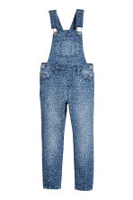 Denim dungarees - Denim blue/Leopard print -  | H&M CA 2