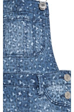Denim dungarees - Denim blue/Leopard print -  | H&M CA 4