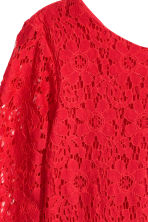Lace dress - Red -  | H&M CN 3