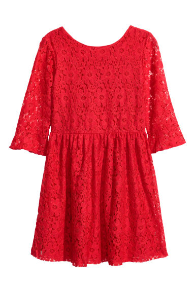 Lace dress - Red - Kids | H&M CN