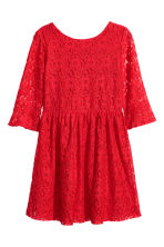 Lace dress - Red -  | H&M CN 2