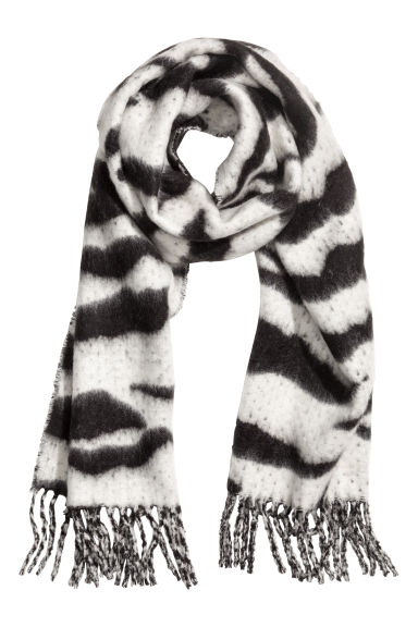 Large scarf - Black/White - Ladies | H&M