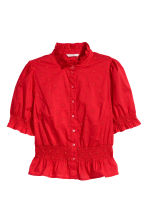 Cotton blouse - Red -  | H&M 2
