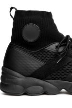 Hi-tops with a knitted shaft - Black - Men | H&M 4