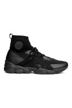 Hi-tops with a knitted shaft - Black - Men | H&M 1