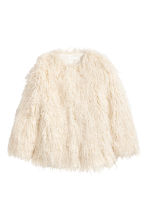 Faux fur jacket - Natural white - Ladies | H&M 2